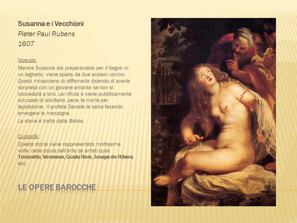 Le opere barocche Susanna e i Vecchioni Pieter Paul Rubens 1607
