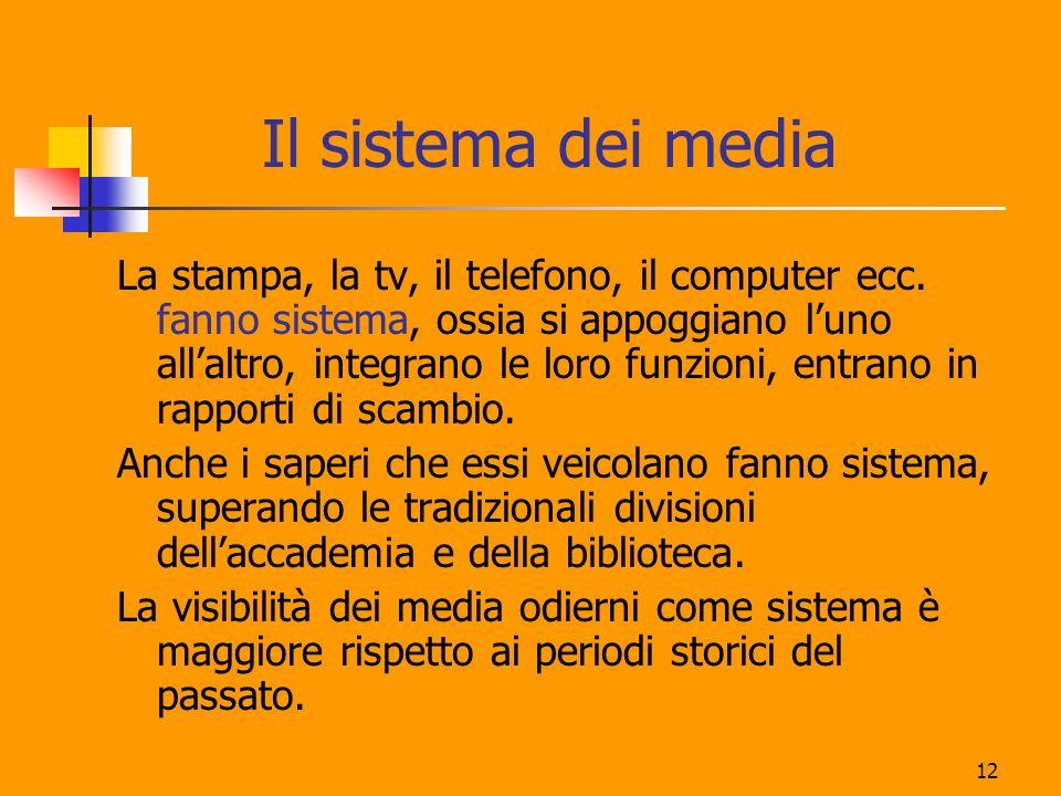 Il sistema dei media