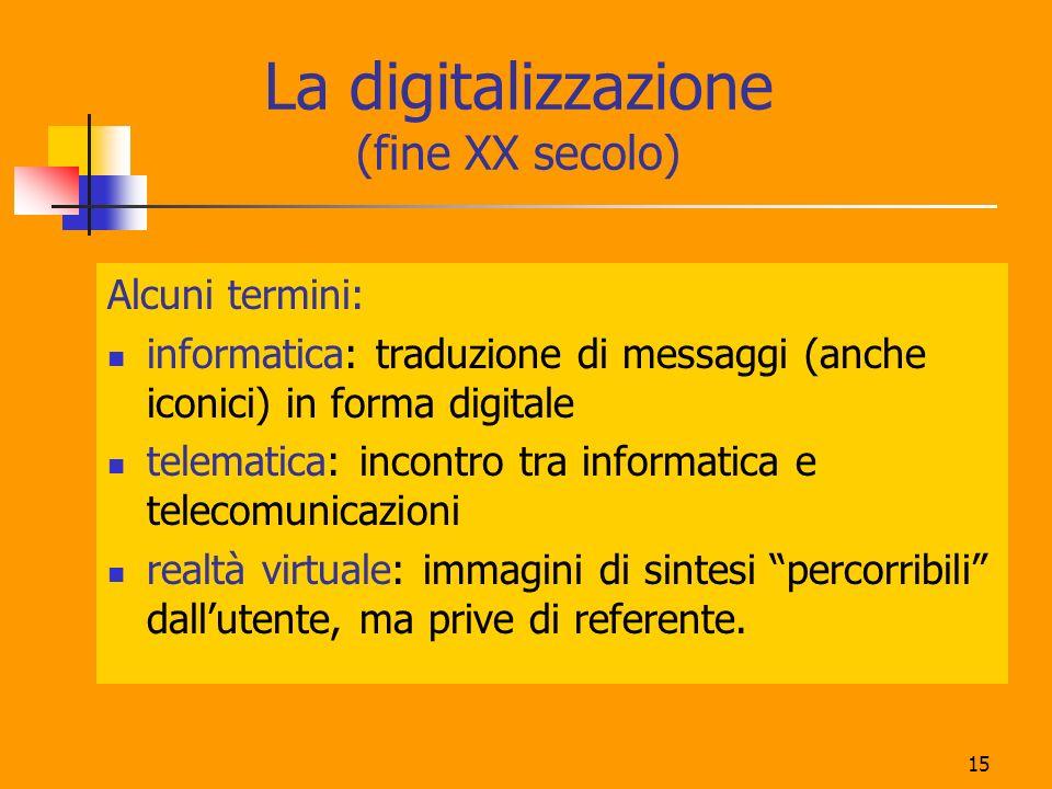 La digitalizzazione (fine XX secolo)