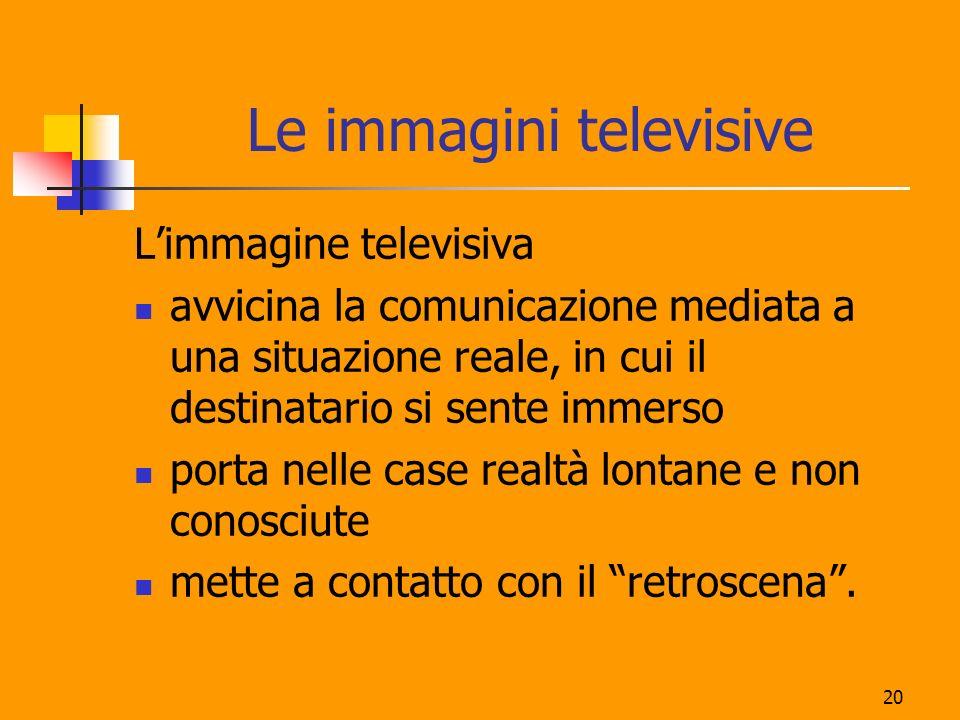 Le immagini televisive
