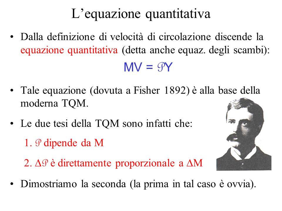 L'equazione quantitativa