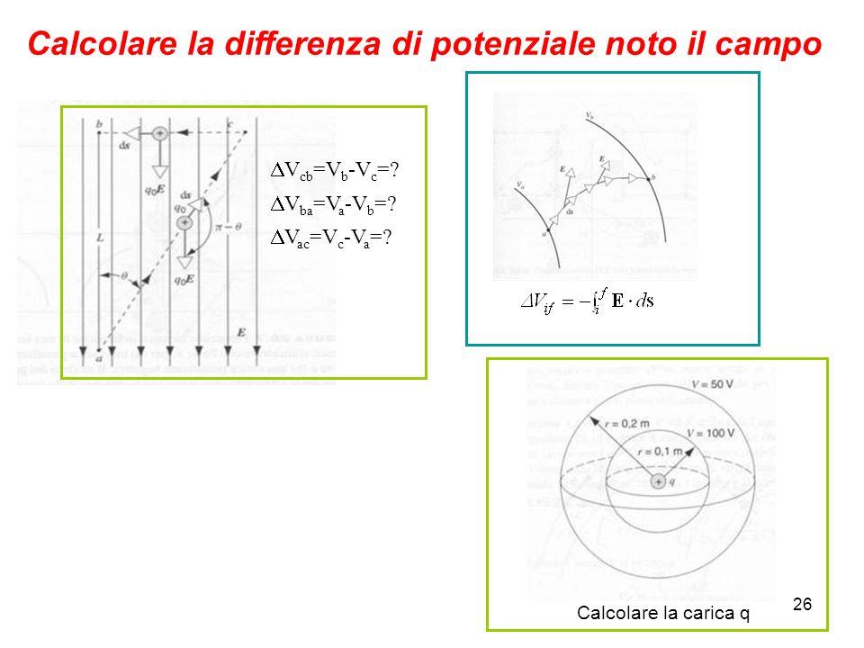 Calcolare la differenza di potenziale noto il campo
