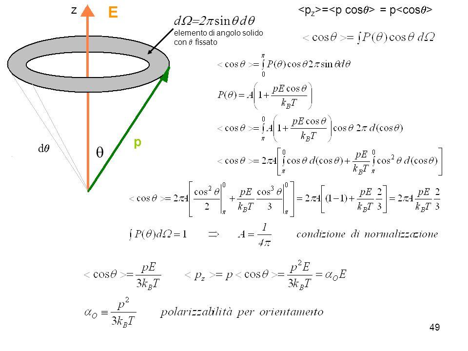 E q dW=2p sinq dq p z dq <pz>=<p cosq> = p<cosq>