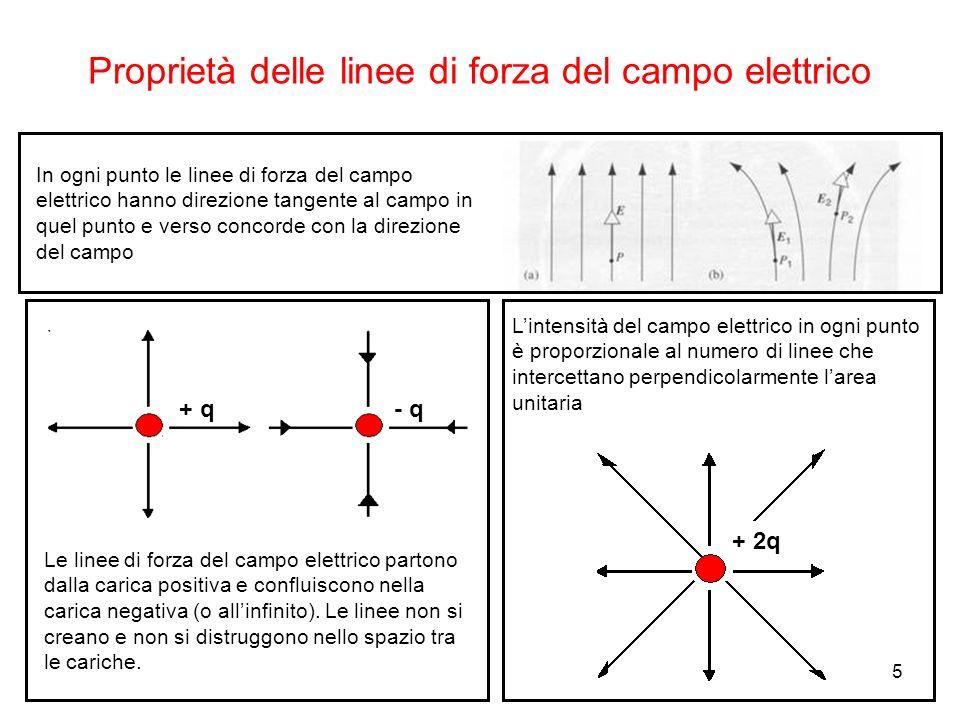 Proprietà delle linee di forza del campo elettrico