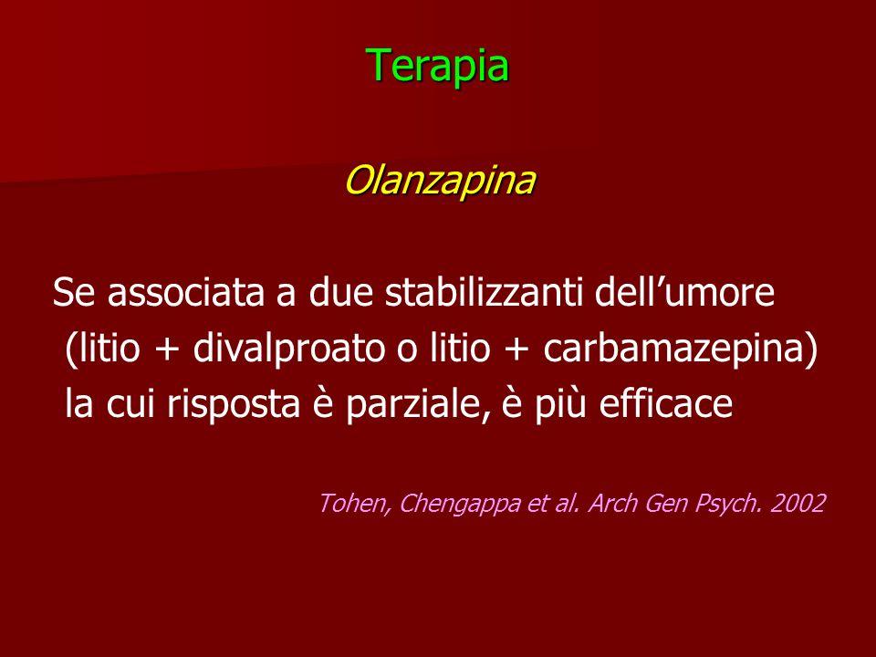 Terapia Olanzapina Se associata a due stabilizzanti dell'umore