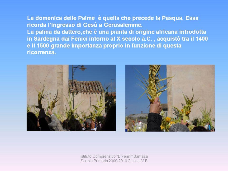 La domenica delle Palme è quella che precede la Pasqua