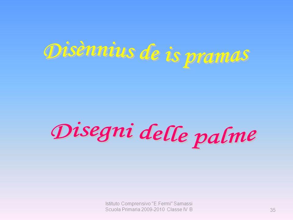 Disènnius de is pramas Disegni delle palme