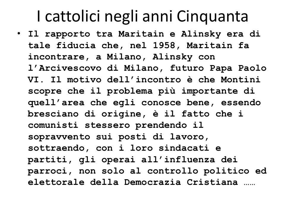 I cattolici negli anni Cinquanta