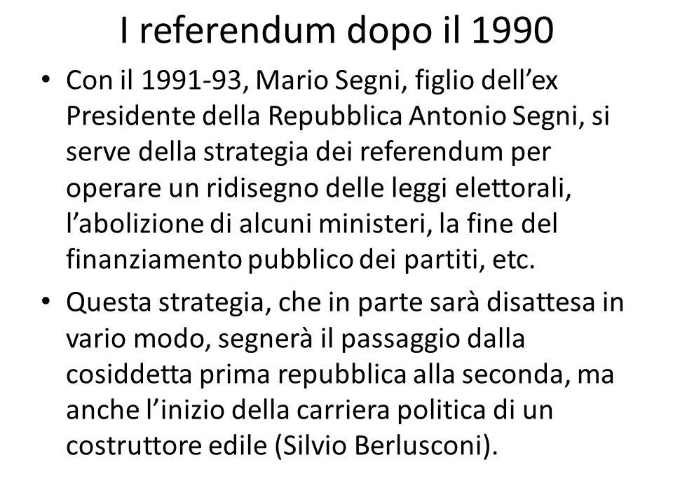 I referendum dopo il 1990