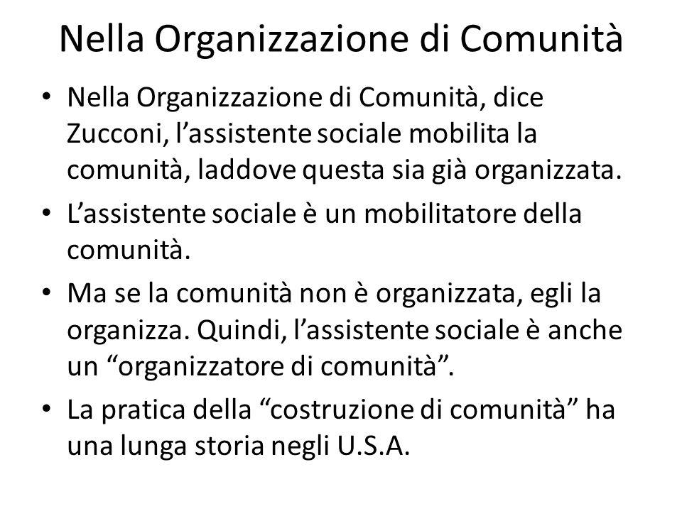 Nella Organizzazione di Comunità