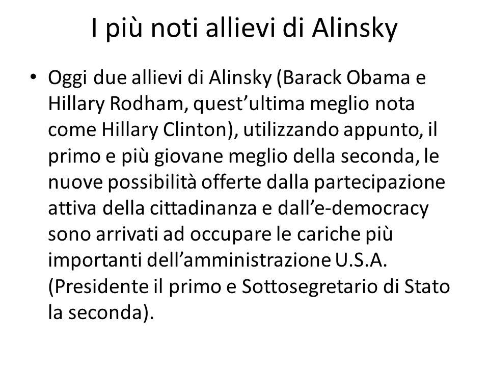 I più noti allievi di Alinsky
