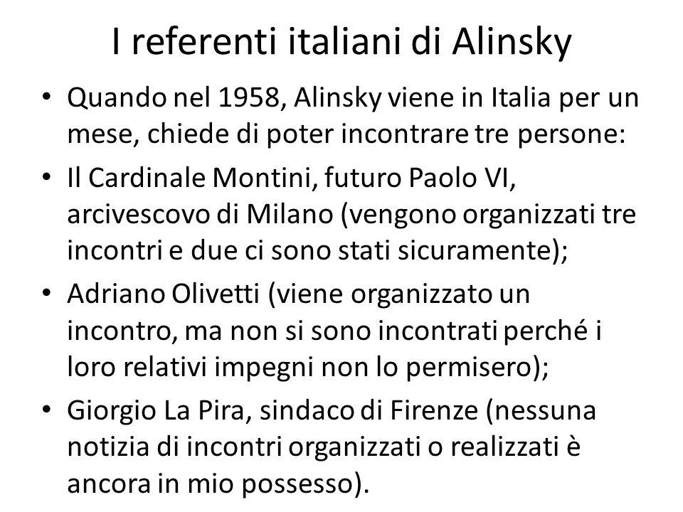 I referenti italiani di Alinsky