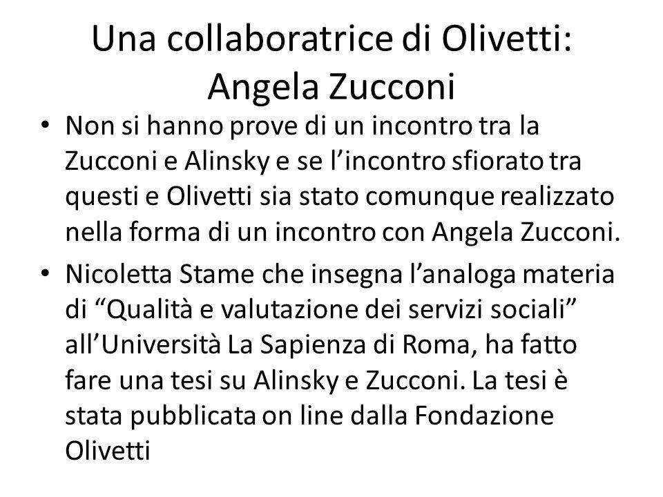 Una collaboratrice di Olivetti: Angela Zucconi