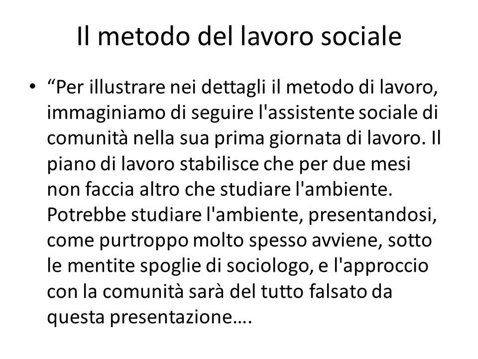 Il metodo del lavoro sociale