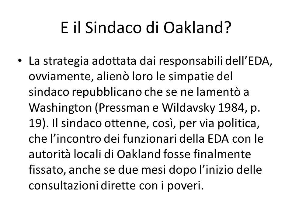 E il Sindaco di Oakland