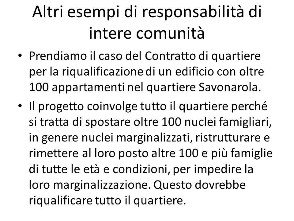 Altri esempi di responsabilità di intere comunità