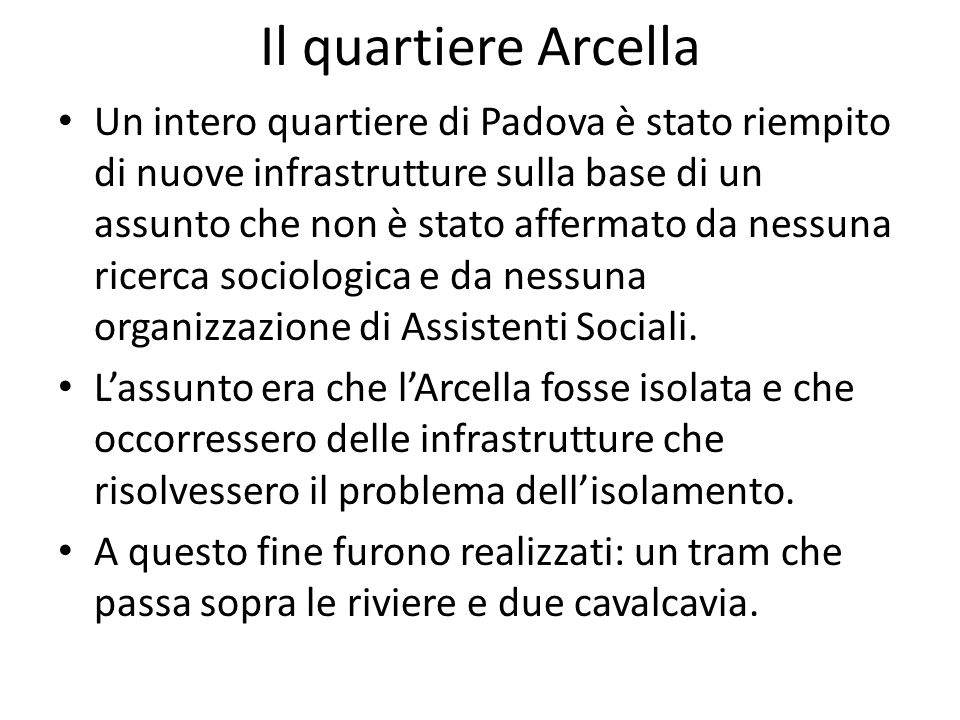 Il quartiere Arcella