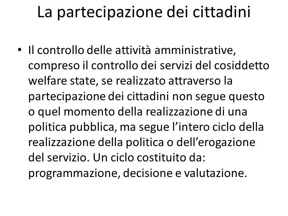 La partecipazione dei cittadini