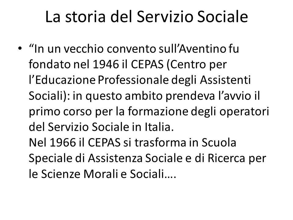 La storia del Servizio Sociale