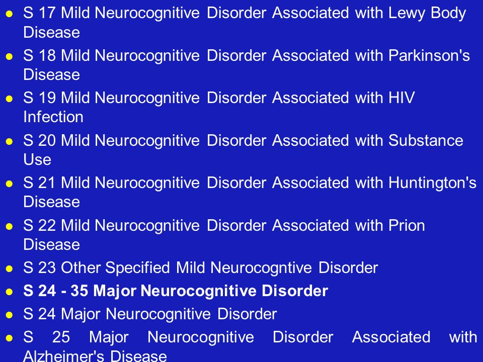 S 17 Mild Neurocognitive Disorder Associated with Lewy Body Disease