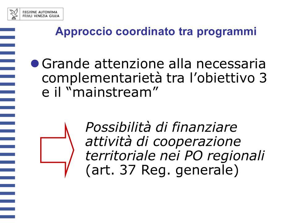 Approccio coordinato tra programmi