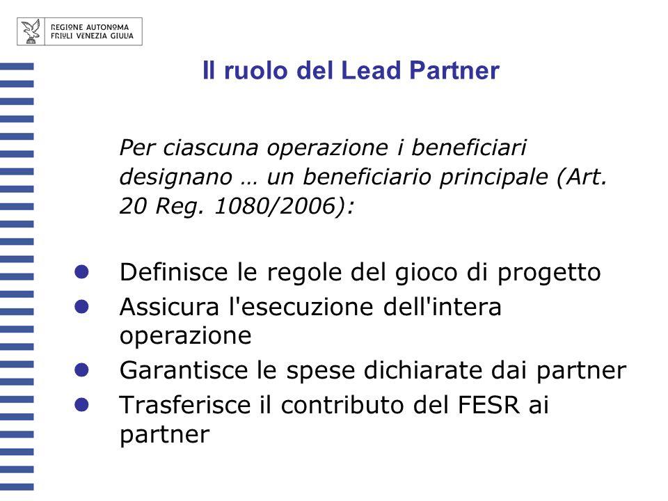 Il ruolo del Lead Partner