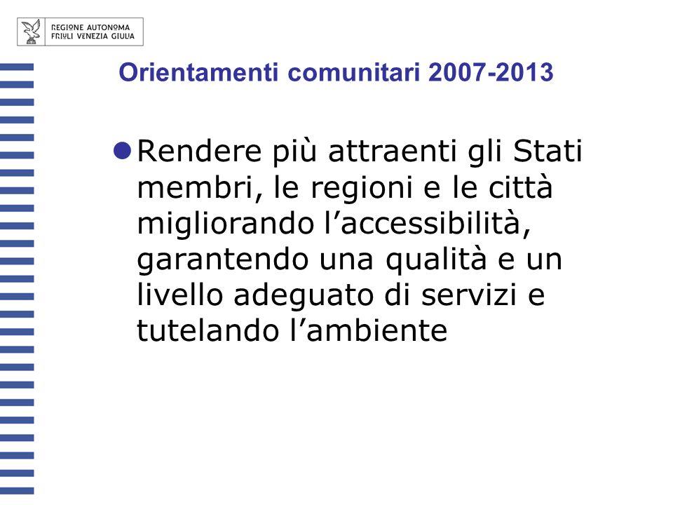 Orientamenti comunitari 2007-2013