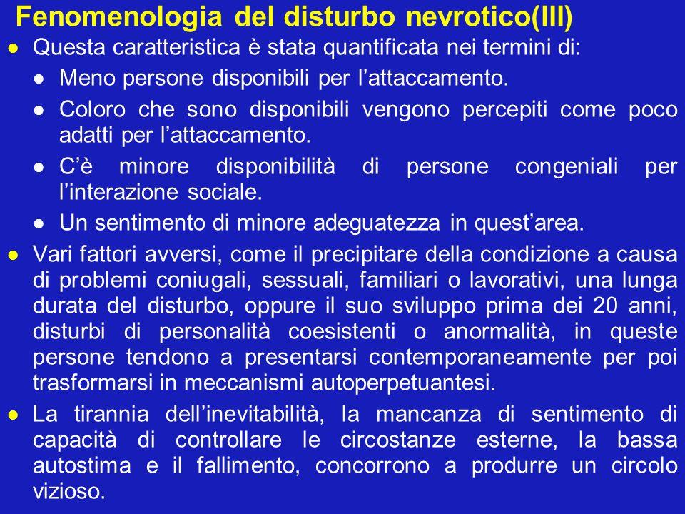 Fenomenologia del disturbo nevrotico(III)