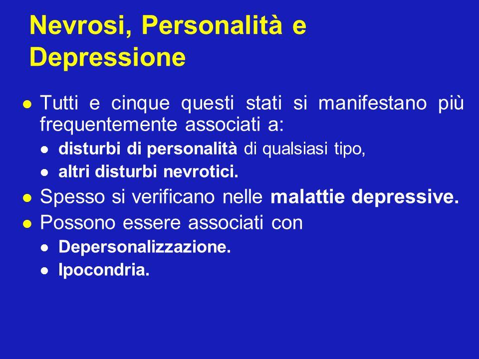 Nevrosi, Personalità e Depressione