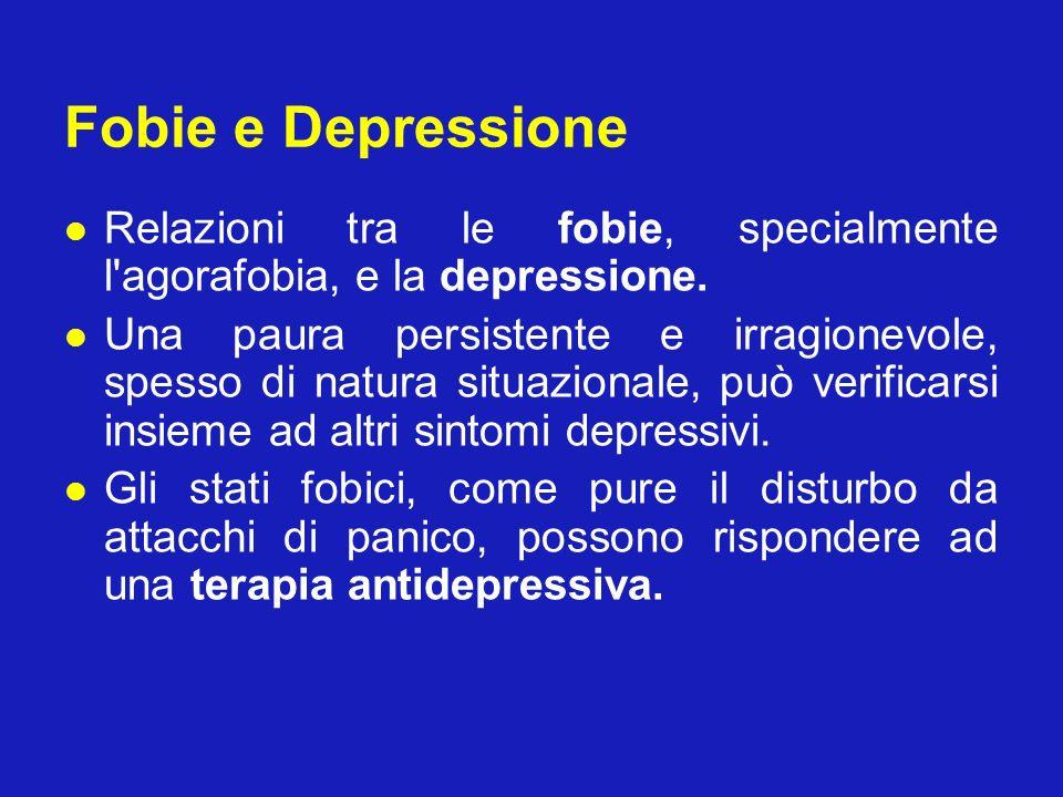 Fobie e Depressione Relazioni tra le fobie, specialmente l agorafobia, e la depressione.