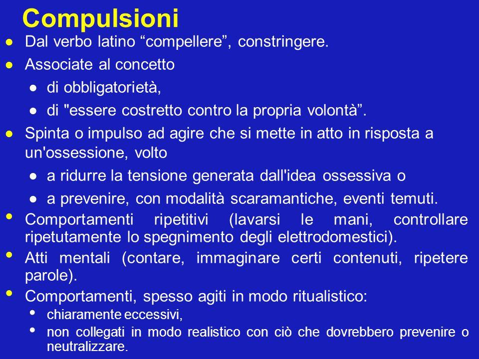 Compulsioni Dal verbo latino compellere , constringere.