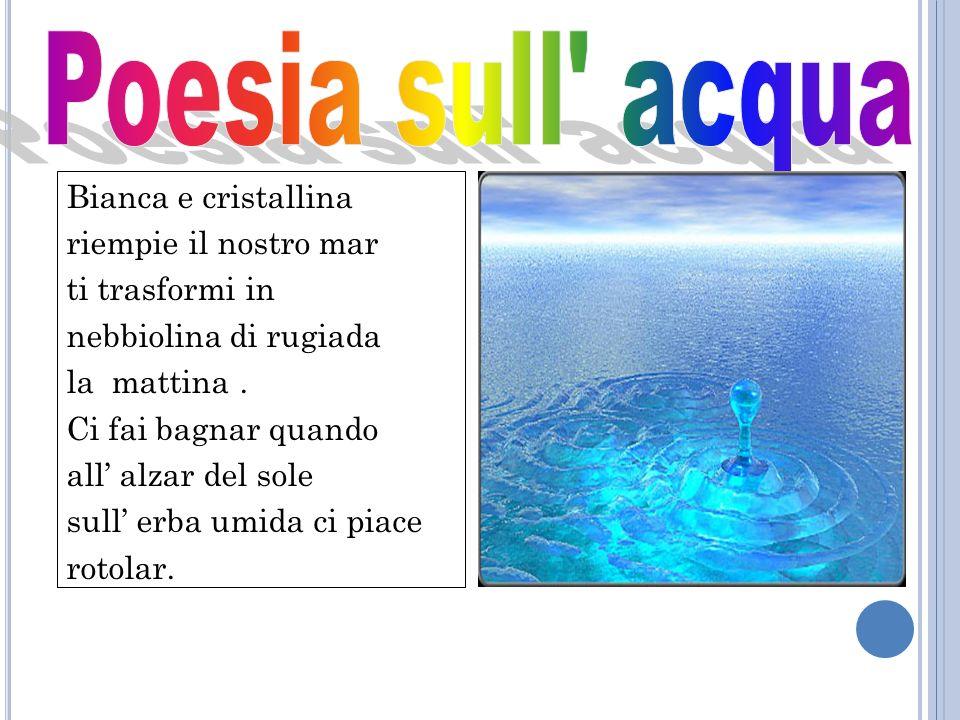 Poesia sull acqua Bianca e cristallina riempie il nostro mar