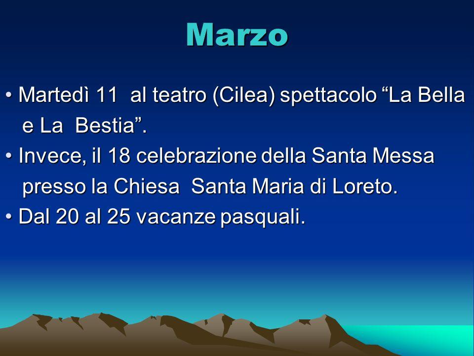 Marzo Martedì 11 al teatro (Cilea) spettacolo La Bella e La Bestia .
