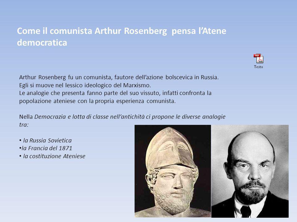 Come il comunista Arthur Rosenberg pensa l'Atene democratica