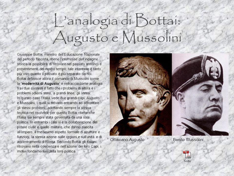 L'analogia di Bottai: Augusto e Mussolini