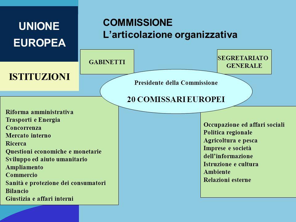 COMMISSIONE L'articolazione organizzativa
