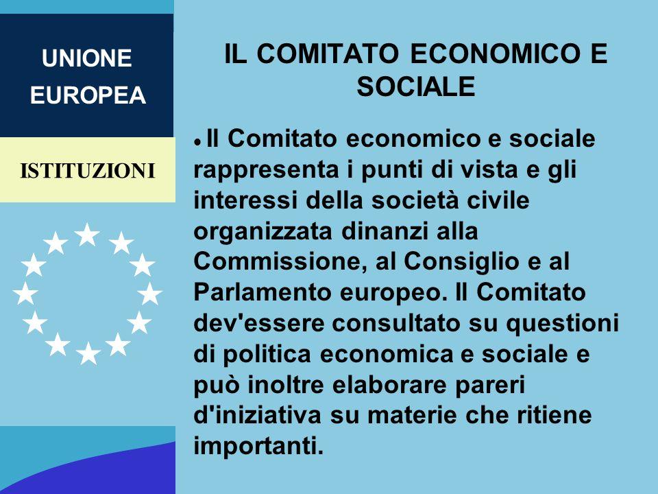 IL COMITATO ECONOMICO E SOCIALE