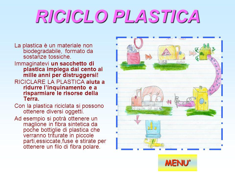 RICICLO PLASTICA MENU'