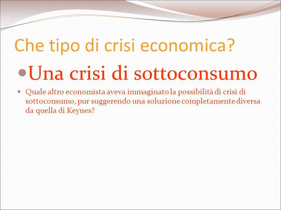 Che tipo di crisi economica