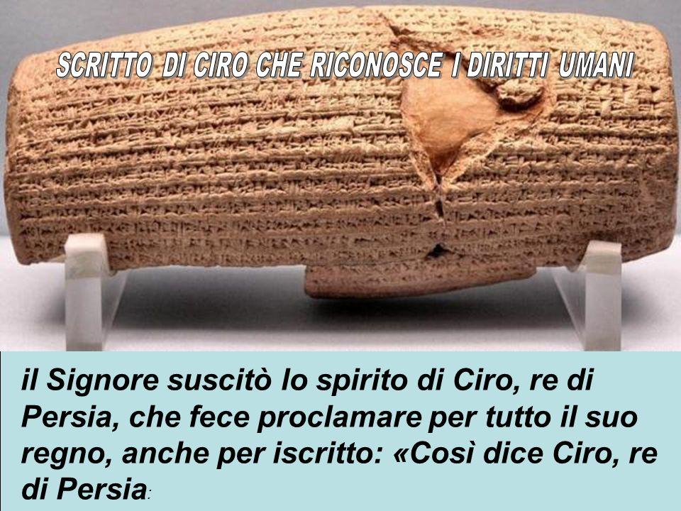 SCRITTO DI CIRO CHE RICONOSCE I DIRITTI UMANI