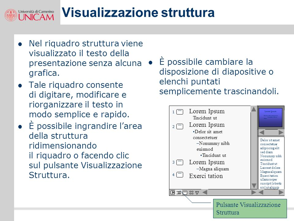 Visualizzazione struttura