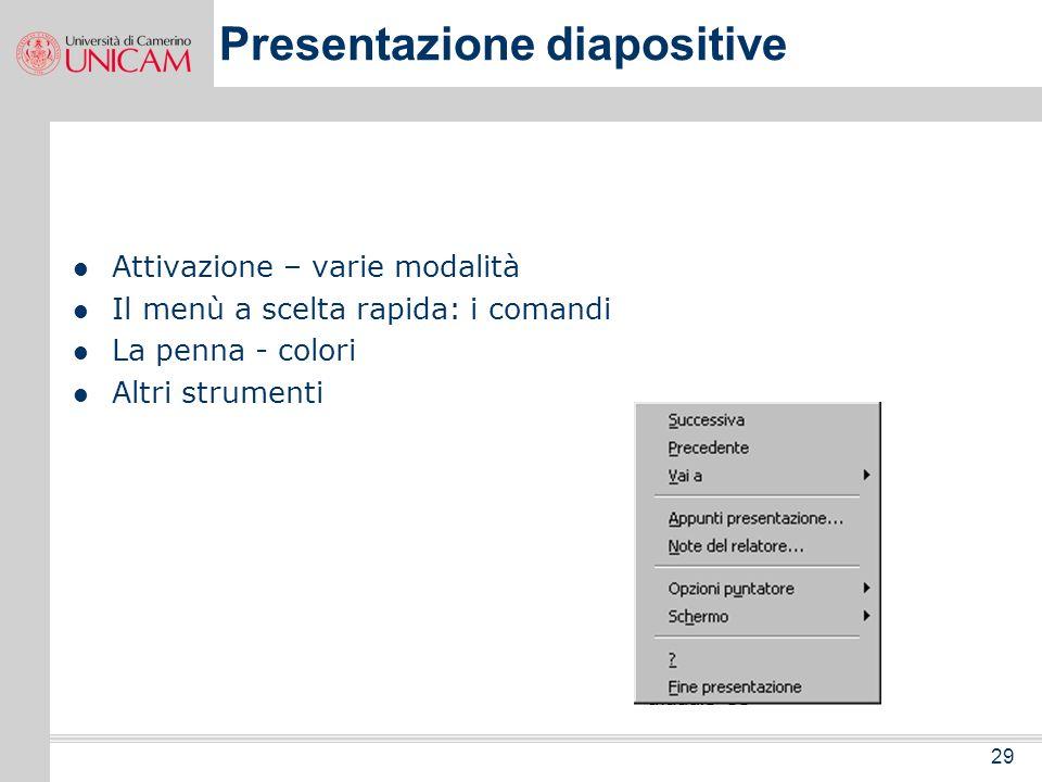 Presentazione diapositive