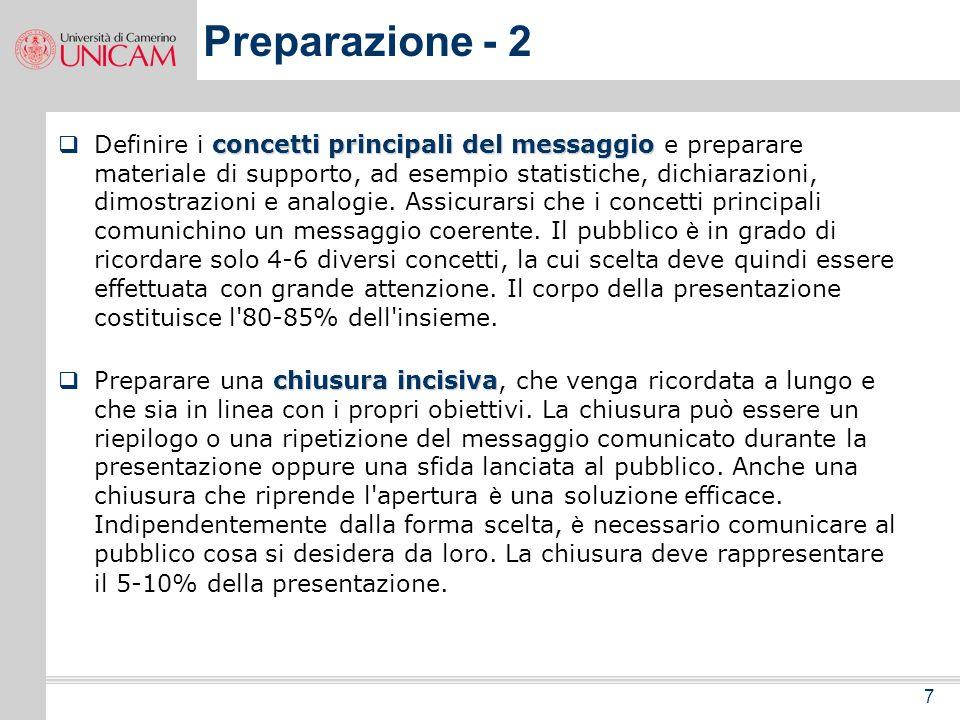 Preparazione - 2