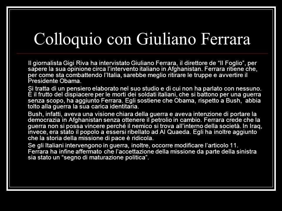Colloquio con Giuliano Ferrara