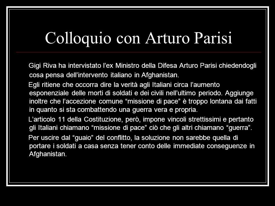 Colloquio con Arturo Parisi