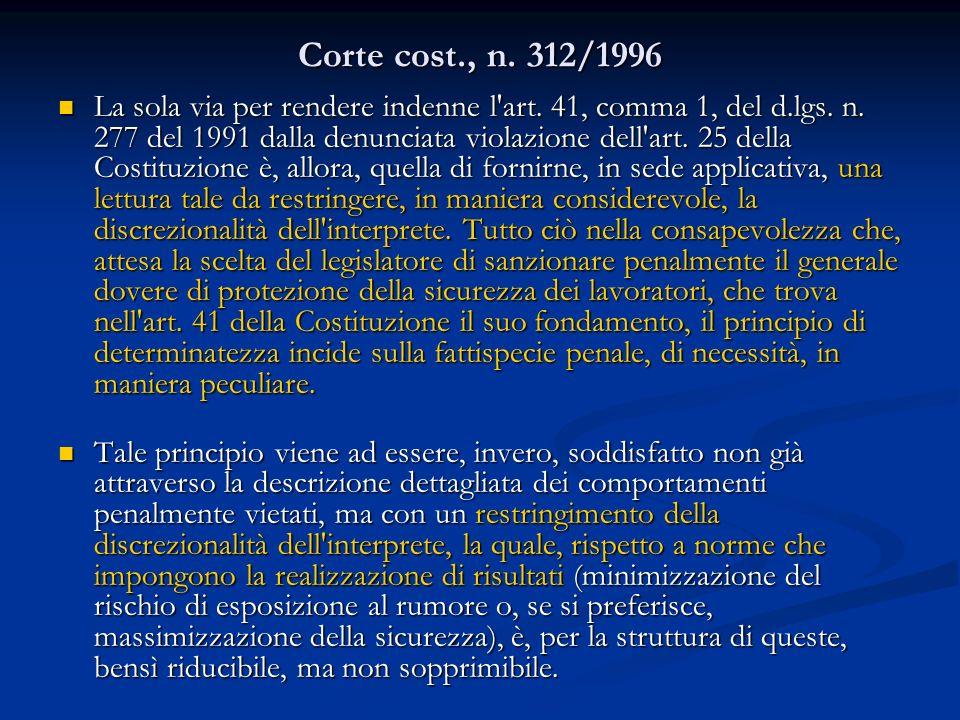 Corte cost., n. 312/1996