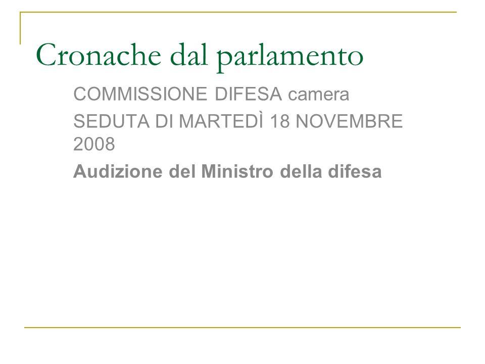 Cronache dal parlamento