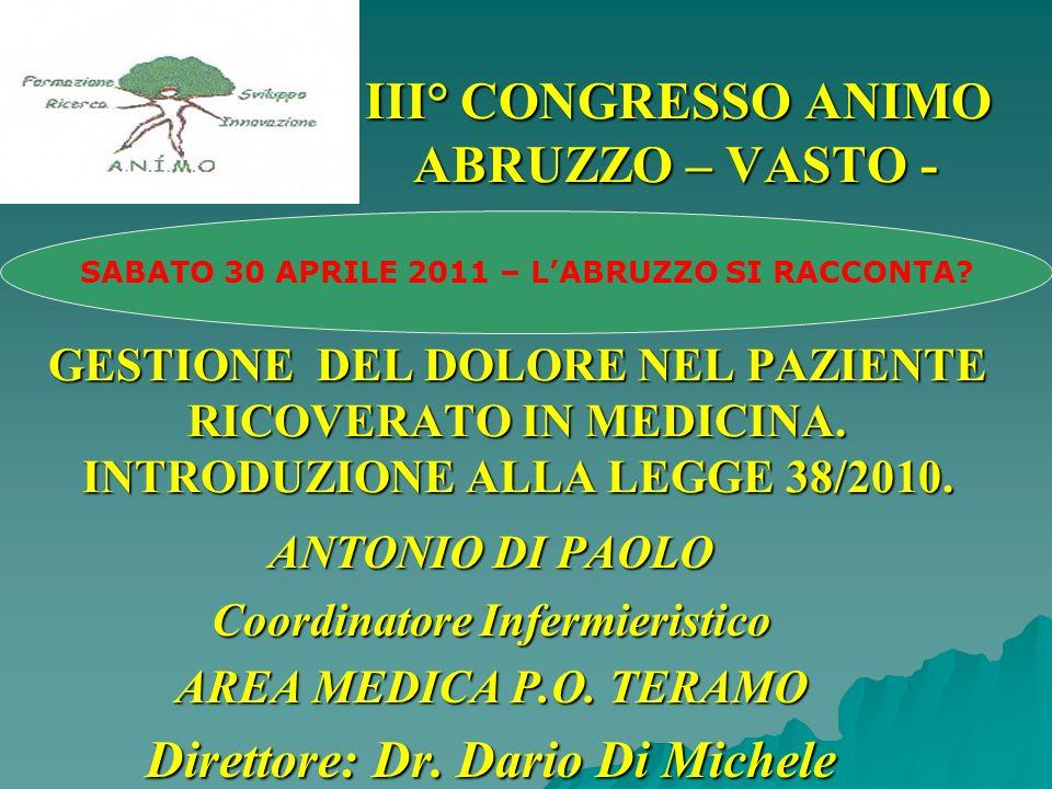 SABATO 30 APRILE 2011 – L'ABRUZZO SI RACCONTA