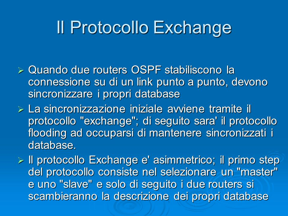 Il Protocollo Exchange