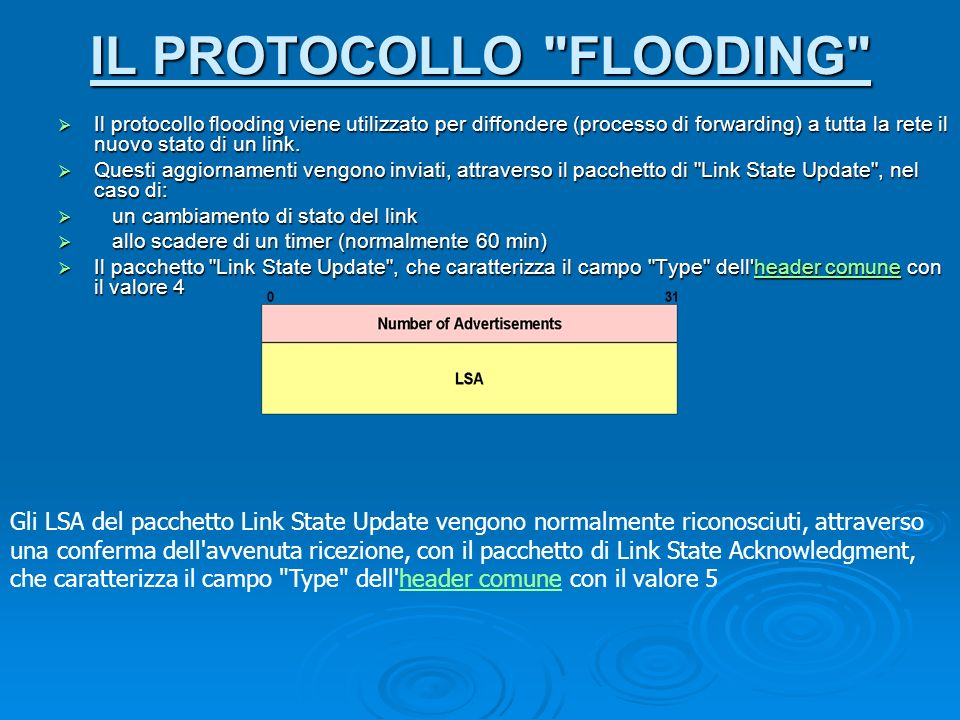 IL PROTOCOLLO FLOODING